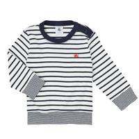 Oblačila Dečki Majice z dolgimi rokavi Petit Bateau IGRAE Bela / Modra