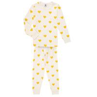 Oblačila Deklice Pižame & Spalne srajce Petit Bateau LERINU Bela / Rumena