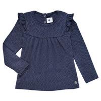Oblačila Deklice Majice z dolgimi rokavi Petit Bateau IWAKA Modra