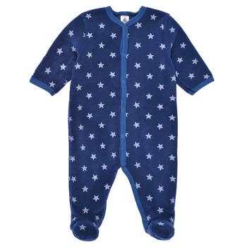 Oblačila Dečki Pižame & Spalne srajce Petit Bateau BENIR Modra / Bela