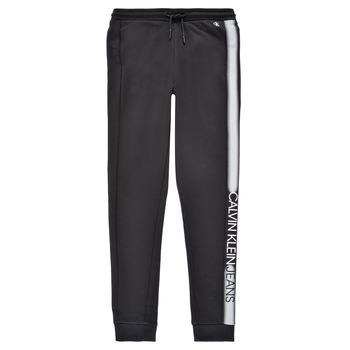 Oblačila Dečki Spodnji deli trenirke  Calvin Klein Jeans RESPIRA Črna