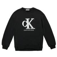 Oblačila Deklice Puloverji Calvin Klein Jeans POLLI Črna