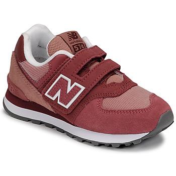 Čevlji  Deklice Nizke superge New Balance 574 Rožnata