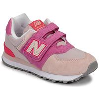 Čevlji  Deklice Nizke superge New Balance 574 Rožnata / Vijolična