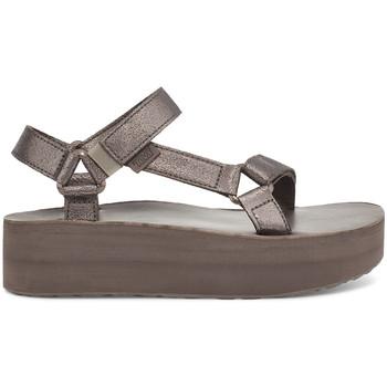 Čevlji  Ženske Sandali & Odprti čevlji Teva Flatform Universal Leather Women's Metallic Bronze