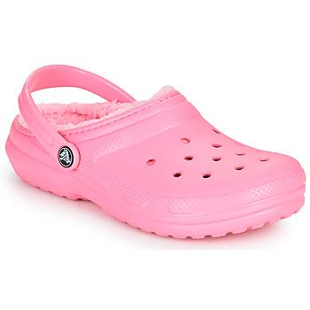 Čevlji  Otroci Cokli Crocs CLASSIC LINED CLOG K Rožnata