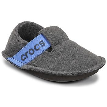 Čevlji  Otroci Nogavice Crocs CLASSIC SLIPPER K Siva / Modra