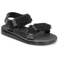 Čevlji  Ženske Sandali & Odprti čevlji Melissa MELISSA PAPETTE FLUFFY RIDER AD Črna