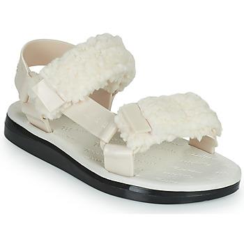 Čevlji  Ženske Sandali & Odprti čevlji Melissa MELISSA PAPETTE FLUFFY RIDER AD Bež / Črna