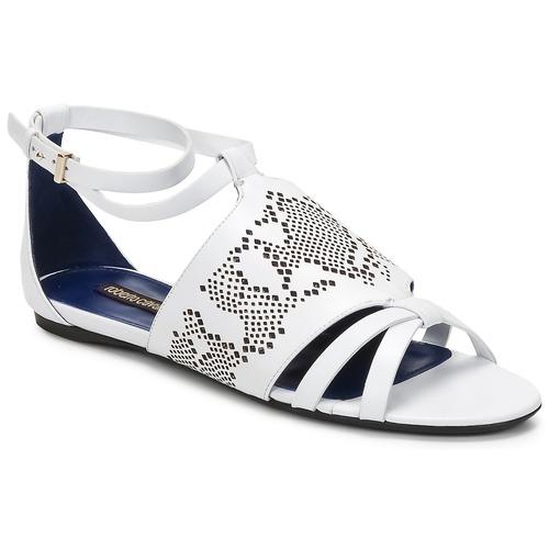Čevlji  Ženske Sandali & Odprti čevlji Roberto Cavalli TPS918 Bela