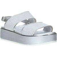 Čevlji  Ženske Sandali & Odprti čevlji Melluso 09620X Srebro