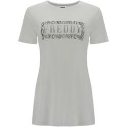Oblačila Ženske Majice s kratkimi rokavi Freddy S1WALT2 Biely
