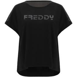 Oblačila Ženske Majice s kratkimi rokavi Freddy S1WTBT3 Črna