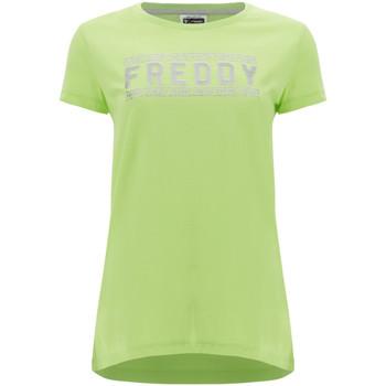Oblačila Ženske Majice s kratkimi rokavi Freddy S1WCLT2 Zelena