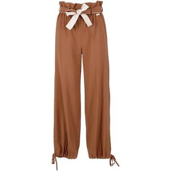 Oblačila Ženske Lahkotne hlače & Harem hlače Café Noir JP6170 Rjav