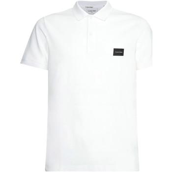 Oblačila Moški Polo majice kratki rokavi Calvin Klein Jeans K10K107289 Biely