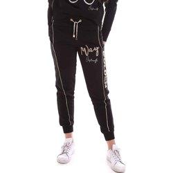 Oblačila Ženske Spodnji deli trenirke  Cristinaeffe 4962 Črna