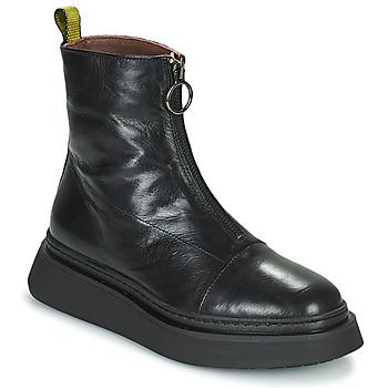 Čevlji  Ženske Polškornji Mjus BASE ZIP Črna