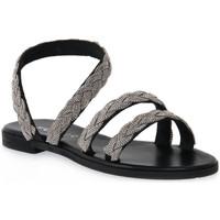 Čevlji  Ženske Sandali & Odprti čevlji Mosaic NERO BRAIDS Nero