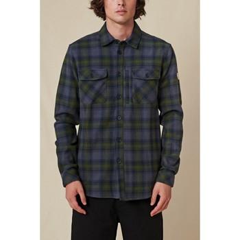 Oblačila Moški Srajce z dolgimi rokavi Globe Chemise  Wanderer Shacket bleu/vert