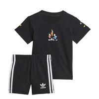Oblačila Dečki Otroški kompleti adidas Originals COTES Črna