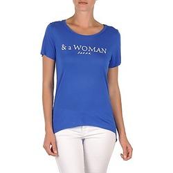 Oblačila Ženske Majice s kratkimi rokavi School Rag TEMMY WOMAN Modra