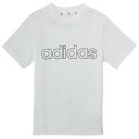 Oblačila Dečki Majice s kratkimi rokavi adidas Performance ALBA Bela