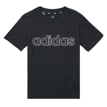 Oblačila Dečki Majice s kratkimi rokavi adidas Performance SAMINA Črna