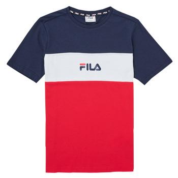Oblačila Deklice Majice s kratkimi rokavi Fila TEKANI Rdeča
