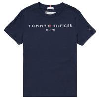 Oblačila Dečki Majice s kratkimi rokavi Tommy Hilfiger SELINERA Modra