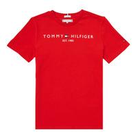 Oblačila Dečki Majice s kratkimi rokavi Tommy Hilfiger SELINERA Rdeča