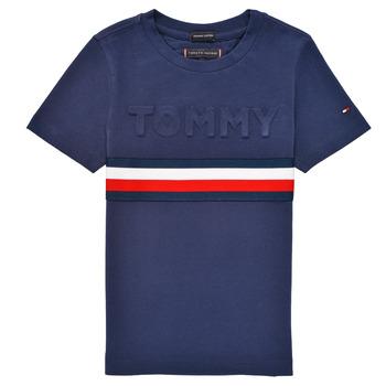 Oblačila Dečki Majice s kratkimi rokavi Tommy Hilfiger ELEONORE Modra