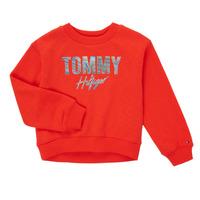 Oblačila Deklice Puloverji Tommy Hilfiger KOMELA Rdeča
