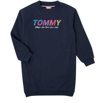 Oblačila Deklice Kratke obleke Tommy Hilfiger BELISTA Modra