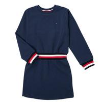 Oblačila Deklice Kratke obleke Tommy Hilfiger ARNO Modra