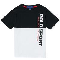 Oblačila Dečki Majice s kratkimi rokavi Polo Ralph Lauren KAMILA Bela / Črna