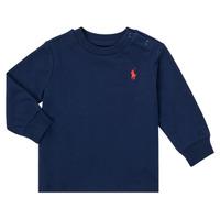 Oblačila Dečki Majice z dolgimi rokavi Polo Ralph Lauren FADILA Modra