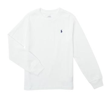 Oblačila Dečki Majice z dolgimi rokavi Polo Ralph Lauren KEMILO Bela