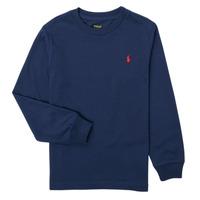 Oblačila Dečki Majice z dolgimi rokavi Polo Ralph Lauren KEMILO Modra