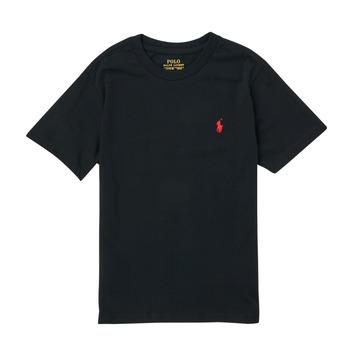 Oblačila Dečki Majice s kratkimi rokavi Polo Ralph Lauren FANNY Črna