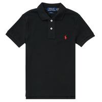 Oblačila Dečki Polo majice kratki rokavi Polo Ralph Lauren HOULIA Črna