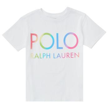 Oblačila Dečki Majice s kratkimi rokavi Polo Ralph Lauren FERILO Bela