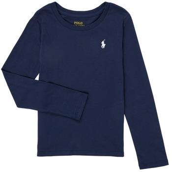 Oblačila Deklice Majice z dolgimi rokavi Polo Ralph Lauren TENINA Modra