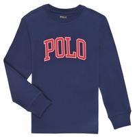 Oblačila Dečki Majice z dolgimi rokavi Polo Ralph Lauren METIKA Modra