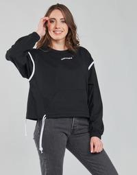 Oblačila Ženske Puloverji Converse LONG SLEEVE JERSEY CREW Črna