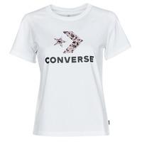 Oblačila Ženske Majice s kratkimi rokavi Converse STAR CHEVRON HYBRID FLOWER INFILL CLASSIC TEE Bela