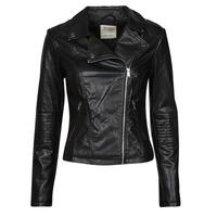 Oblačila Ženske Usnjene jakne & Sintetične jakne Esprit PU BIKER Črna
