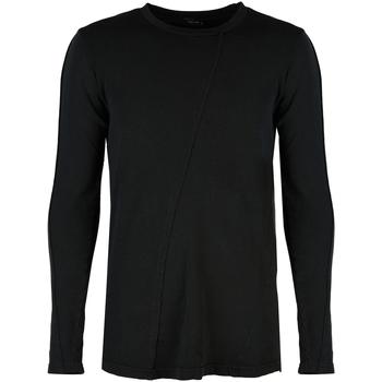 Oblačila Moški Majice z dolgimi rokavi Xagon Man  Črna