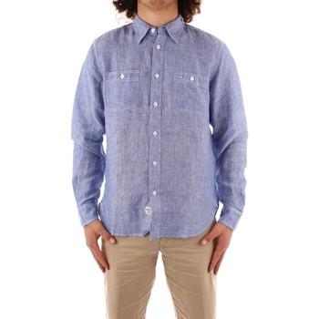 Oblačila Moški Srajce z dolgimi rokavi Blauer 21SBLUS01221 BLUE