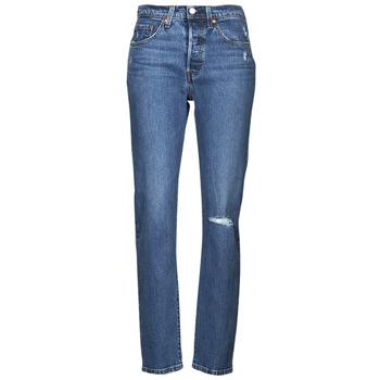Oblačila Ženske Jeans boyfriend Levi's 501 CROP Modra